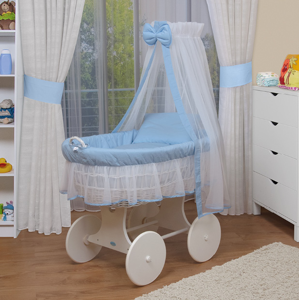 waldin baby bollerwagen xxl stubenwagen neu blau ebay. Black Bedroom Furniture Sets. Home Design Ideas