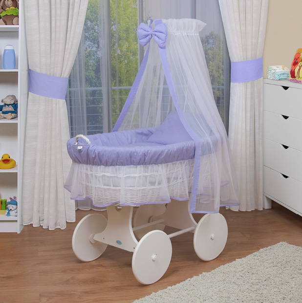 waldin baby bollerwagen xxl stubenwagen neu lila ebay. Black Bedroom Furniture Sets. Home Design Ideas
