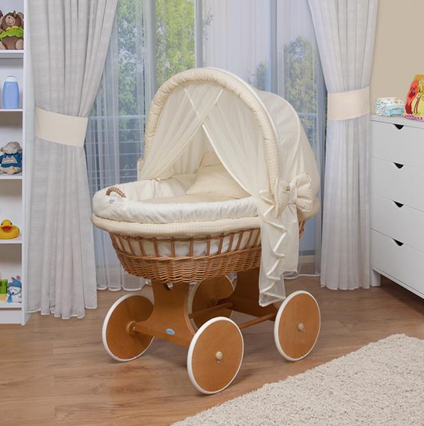 WALDIN Baby Bollerwagen,Stubenwagen XXL NEU !!! Gelb/Beige  eBay