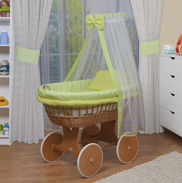 waldin baby bollerwagen stubenwagen xxl neu gr n ebay. Black Bedroom Furniture Sets. Home Design Ideas