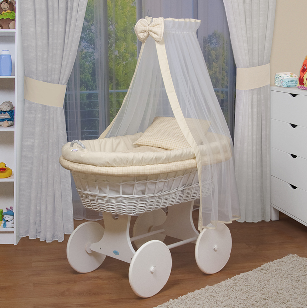 waldin baby bollerwagen stubenwagen xxl neu beige gelb ebay. Black Bedroom Furniture Sets. Home Design Ideas