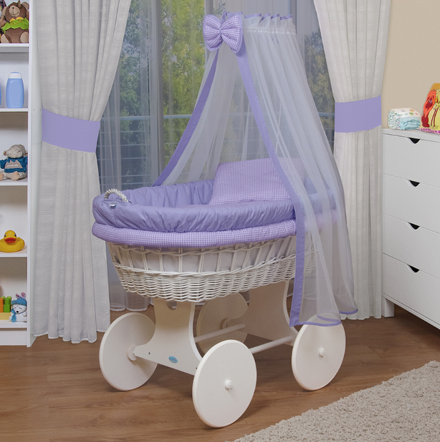 waldin baby bollerwagen stubenwagen xxl neu lila ebay. Black Bedroom Furniture Sets. Home Design Ideas