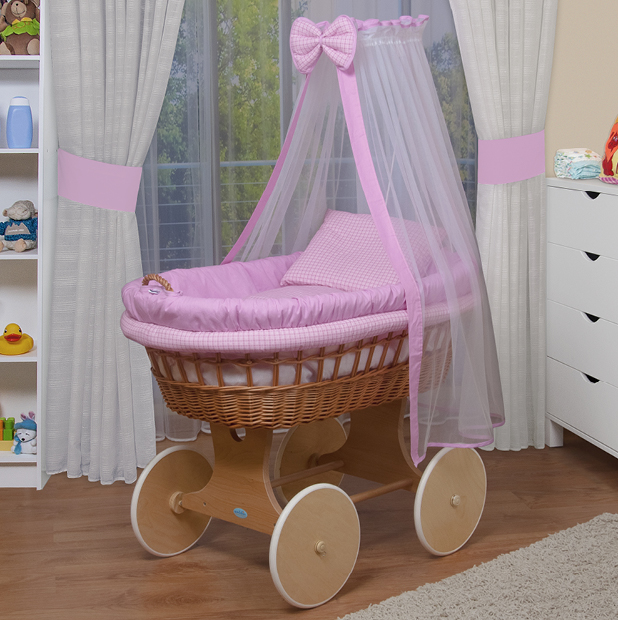 waldin baby bollerwagen stubenwagen xxl neu rosa ebay. Black Bedroom Furniture Sets. Home Design Ideas