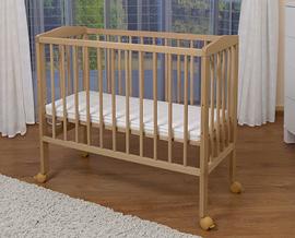waldin baby beistellbett wiege babybett buche massiv. Black Bedroom Furniture Sets. Home Design Ideas