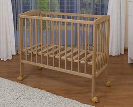 waldin baby beistellbett wiege babybett mit matratze h henverstellbar ebay. Black Bedroom Furniture Sets. Home Design Ideas