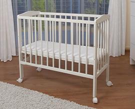 waldin baby beistellbett wiege babybett wei lackiert. Black Bedroom Furniture Sets. Home Design Ideas