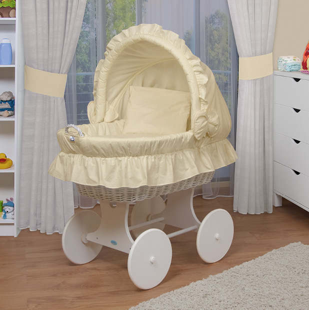 waldin baby bollerwagen stubenwagen xxl neu gelb beige ebay. Black Bedroom Furniture Sets. Home Design Ideas
