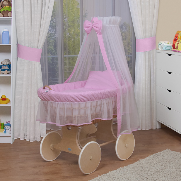 waldin baby bollerwagen xxl stubenwagen neu rosa ebay. Black Bedroom Furniture Sets. Home Design Ideas