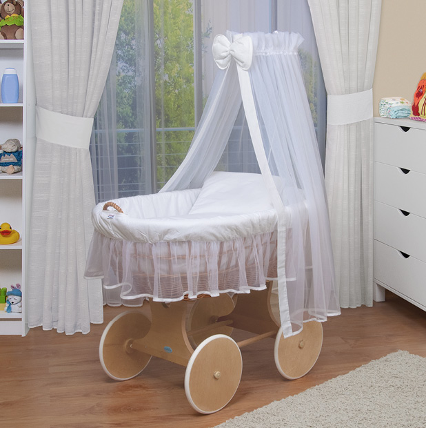 waldin baby bollerwagen xxl stubenwagen neu wei ebay. Black Bedroom Furniture Sets. Home Design Ideas