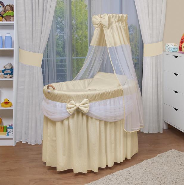 waldin baby bollerwagen stubenwagen xxl neu gelb beige ebay. Black Bedroom Furniture Sets. Home Design Ideas