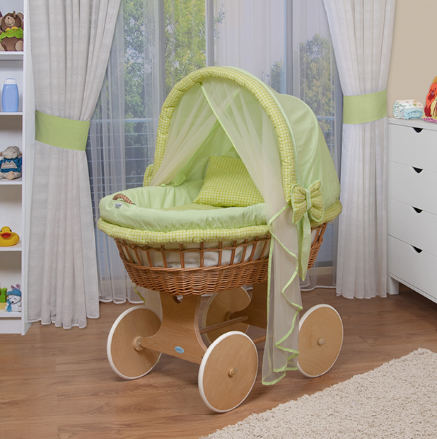 waldin baby bollerwagen stubenwagen xxl neu gr n ebay. Black Bedroom Furniture Sets. Home Design Ideas