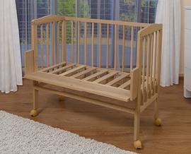 Waldin baby beistellbett wiege babybett mit nestchen und matratze